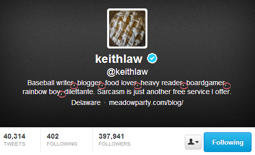 Keith Law - Twitter Bios That Convert Customers