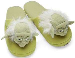Star Wars slippers that look like yoda