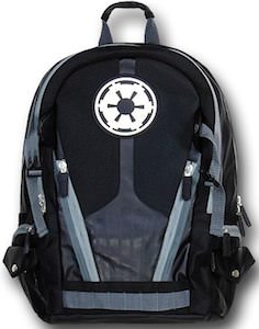 Star Wars backpack with the empire logo