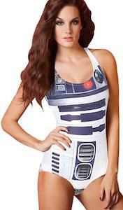 Star Wars bathing suit that looks like R2-D2