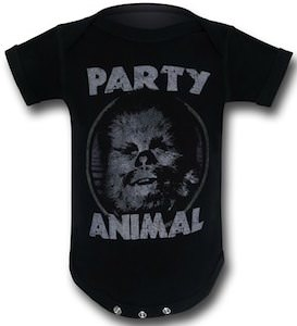 Star Wars Chewbacca Party Animal Baby Romper