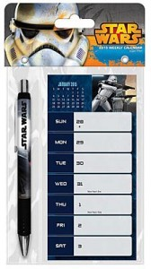 2015 Star Wars Weekly Planner