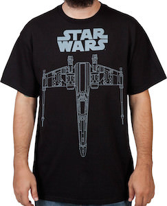 Star Wars star fighter t-shirt
