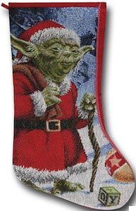 Star Wars yoda Christmas stocking