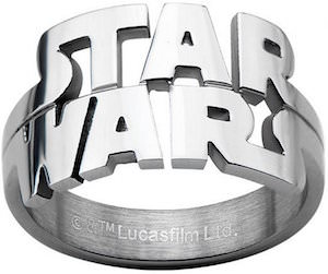 Star Wars Stainless Steel Die Cut Logo Ring