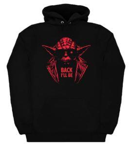 Yoda Back I'll Be Hoodie