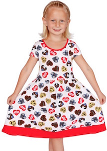 Kids Good Guys Hearts Dress