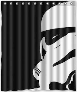 Star Wars Stormtrooper Helmet Shower Curtain