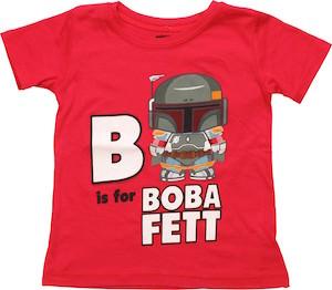 Star Wars B Is For Boba Fett Kids T-Shirt