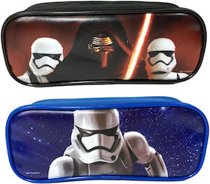 Kylo Ren, Captain Phasma And Stormtrooper Pencil Cases