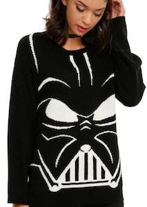 Women's Black Darth Vader Helmet Sweater