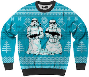 Stormtrooper Snowmen Ugly Christmas Sweater