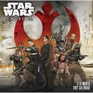 Star Wars Rogue One Wall Calendar 2017