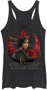Red Rebel Logo And Jyn Erso Tank Top