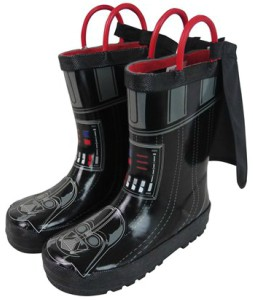 Darth Vader Kids Rain Boots With Cape