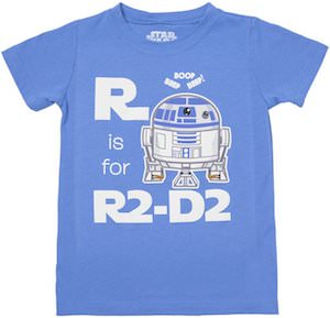 Star Wars R Is For R2D2 Toddler's Shirt
