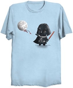 Little Darth Vader And His Death Star Balloon T-Shirt