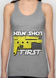 Han Shot First Tank Top