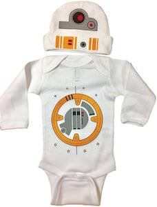 BB-8 Baby Bodysuit And Hat