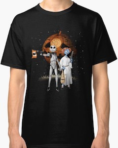 Star Wars Halloween T-Shirt With Stars From The Nightmare Before Christmas