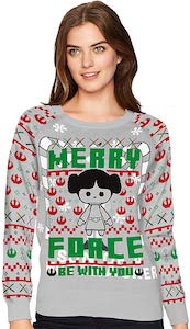 Star Wars Princess Leia Merry Force Christmas Sweater