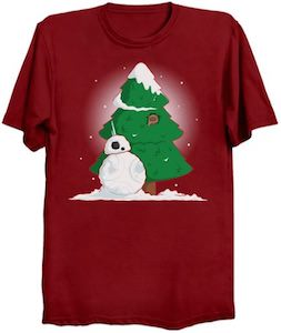 Snow BB-8 Christmas T-Shirt