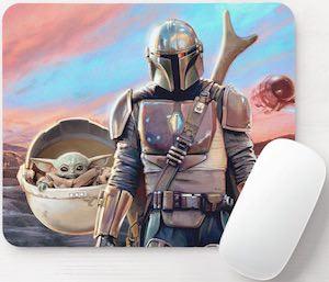 The Mandalorian And Baby Yoda Mousepad