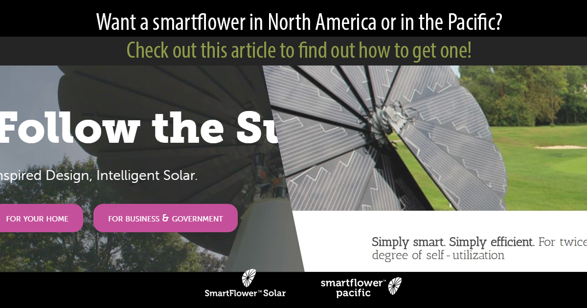Region websites for Pacific and North American smartflower