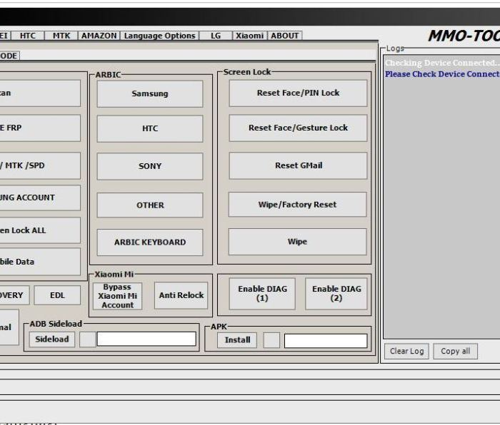 Download MMO Tool V1.0 And Unlock Android Pin,Password,Pattern