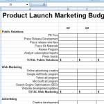 5 Free Launch Budget Templates
