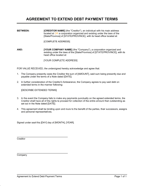 payment agreement template 3