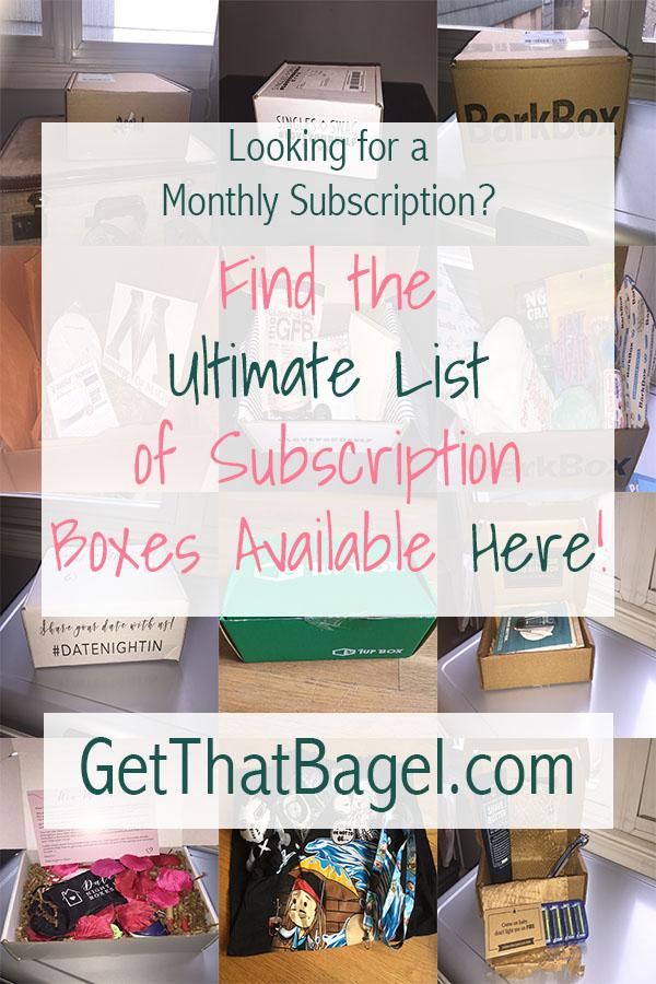 Alphabetical Subscription Box Directory
