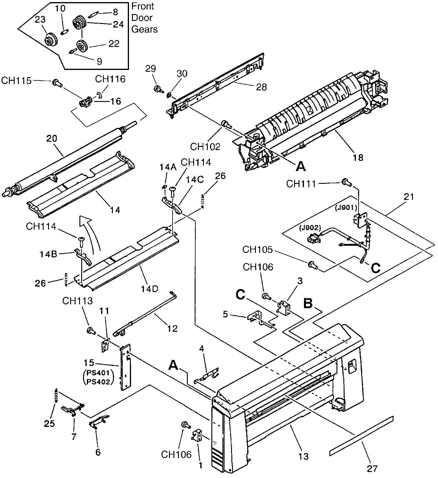 Hp Laserjet 4v 4mv Rg5 Complete 115v Oem Fuser Fixing