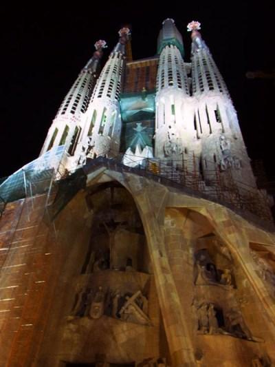 Gaudi's Sagrada Familia by night