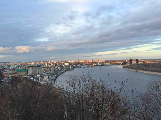 View over Podil, Kyiv
