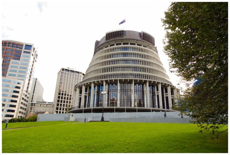 The beehive, parliament NZ