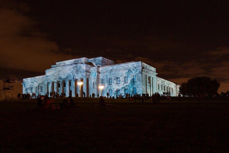 Auckland Museum Antarctica light show