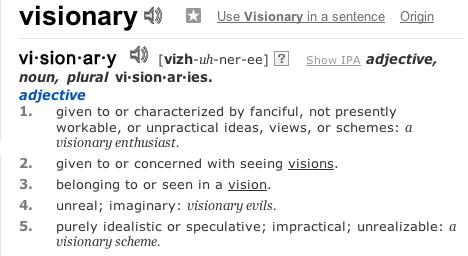 Visionary | Define Visionary at Dictionary.com