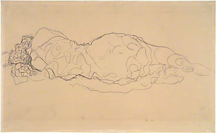 Reclining Woman, Seen from Behind / Klimt