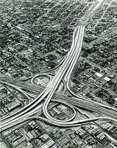 Santa Monica Freeway (Interstate 10) and Harbor Freeway (Interstate 110) Interchange