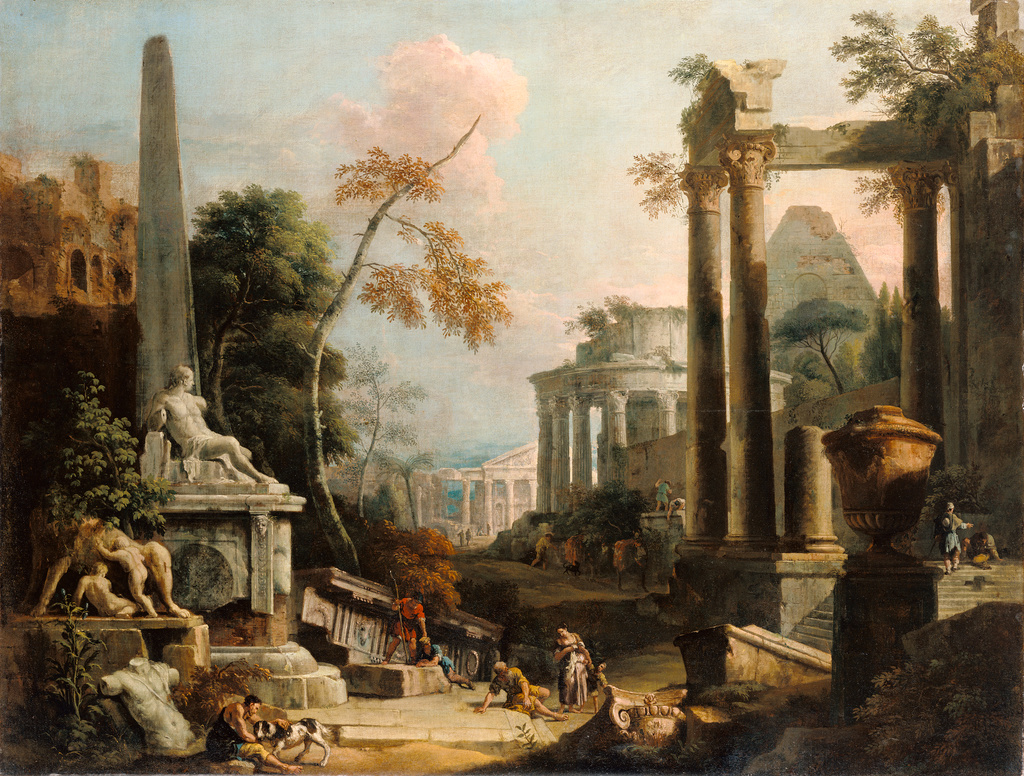 Landscape With Classical Ruins And Figures Getty Museum