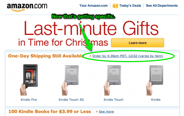 Email marketing urgency Christmas