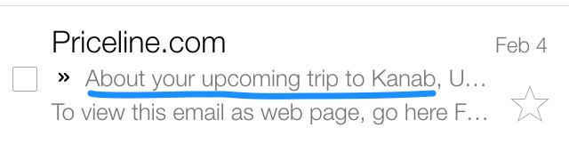 priceline email subject line