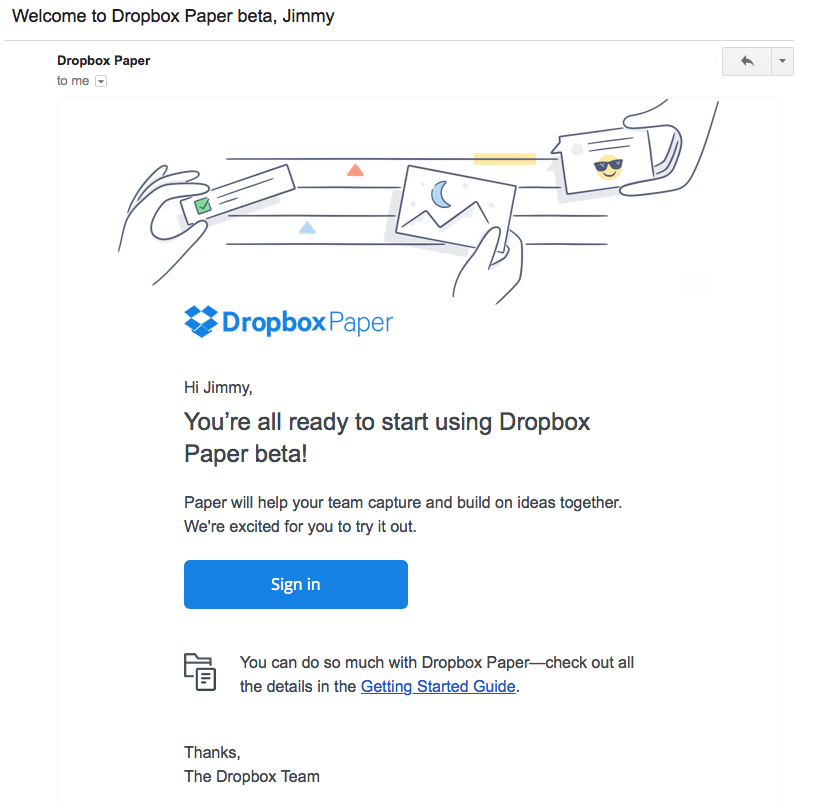 dropbox email marketing best practices