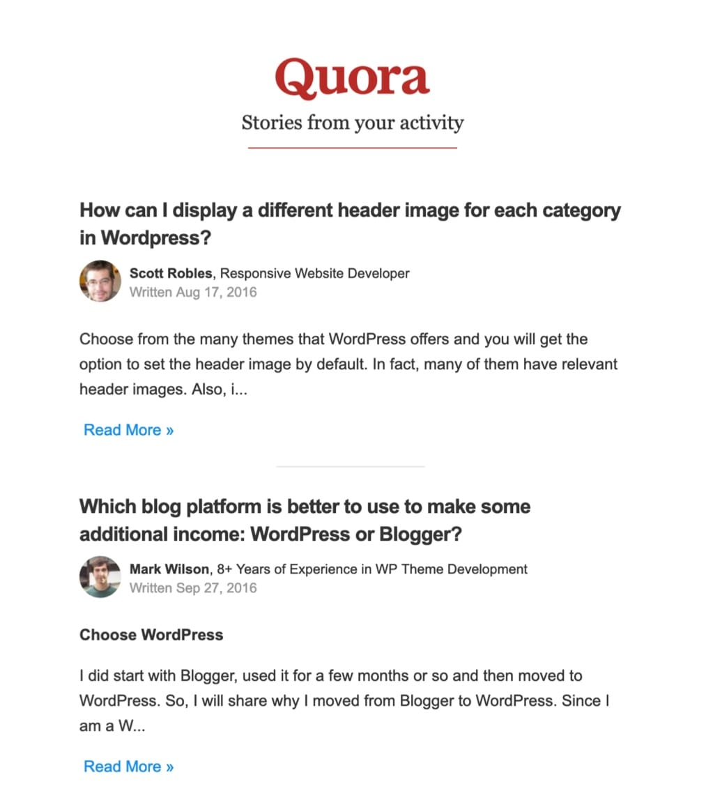 40 tips example quora