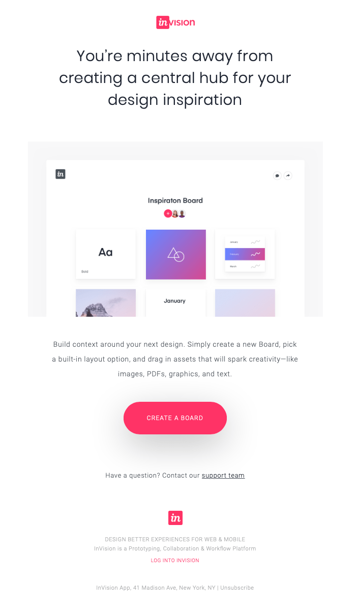 Invision email example