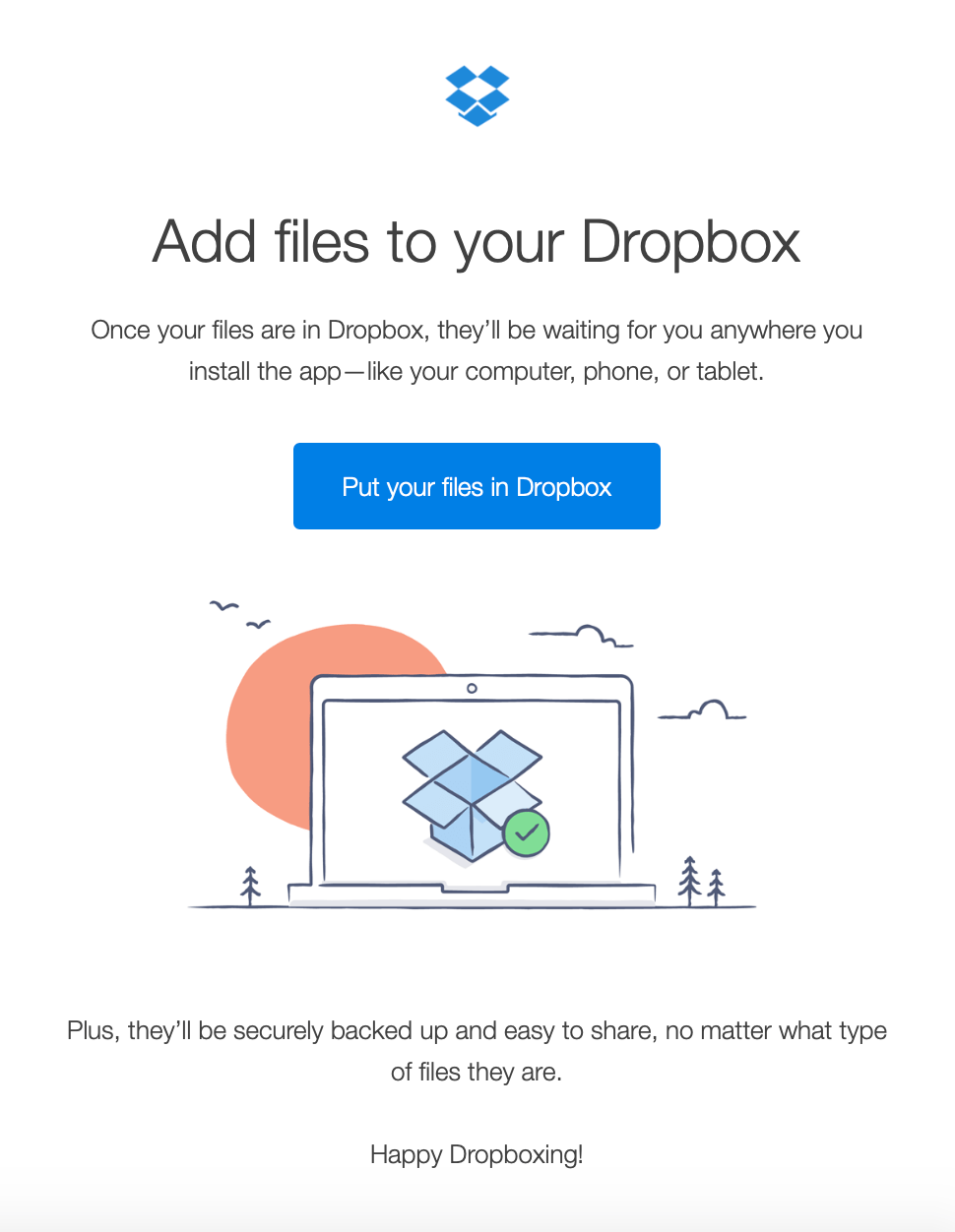 dropbox onboarding email reduce customer churn