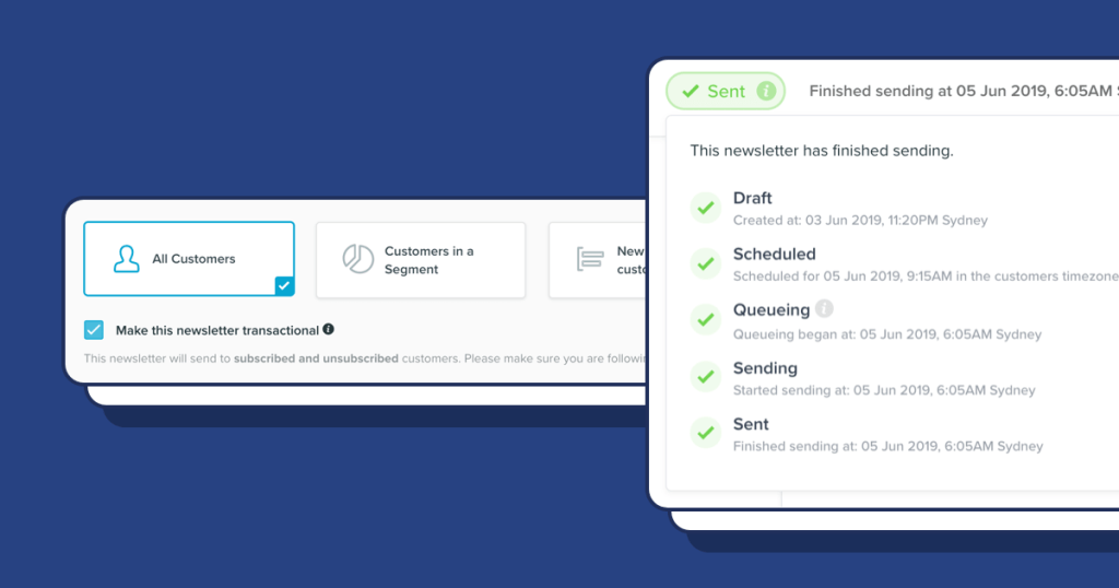 Transactional newsletters, better Logs and more