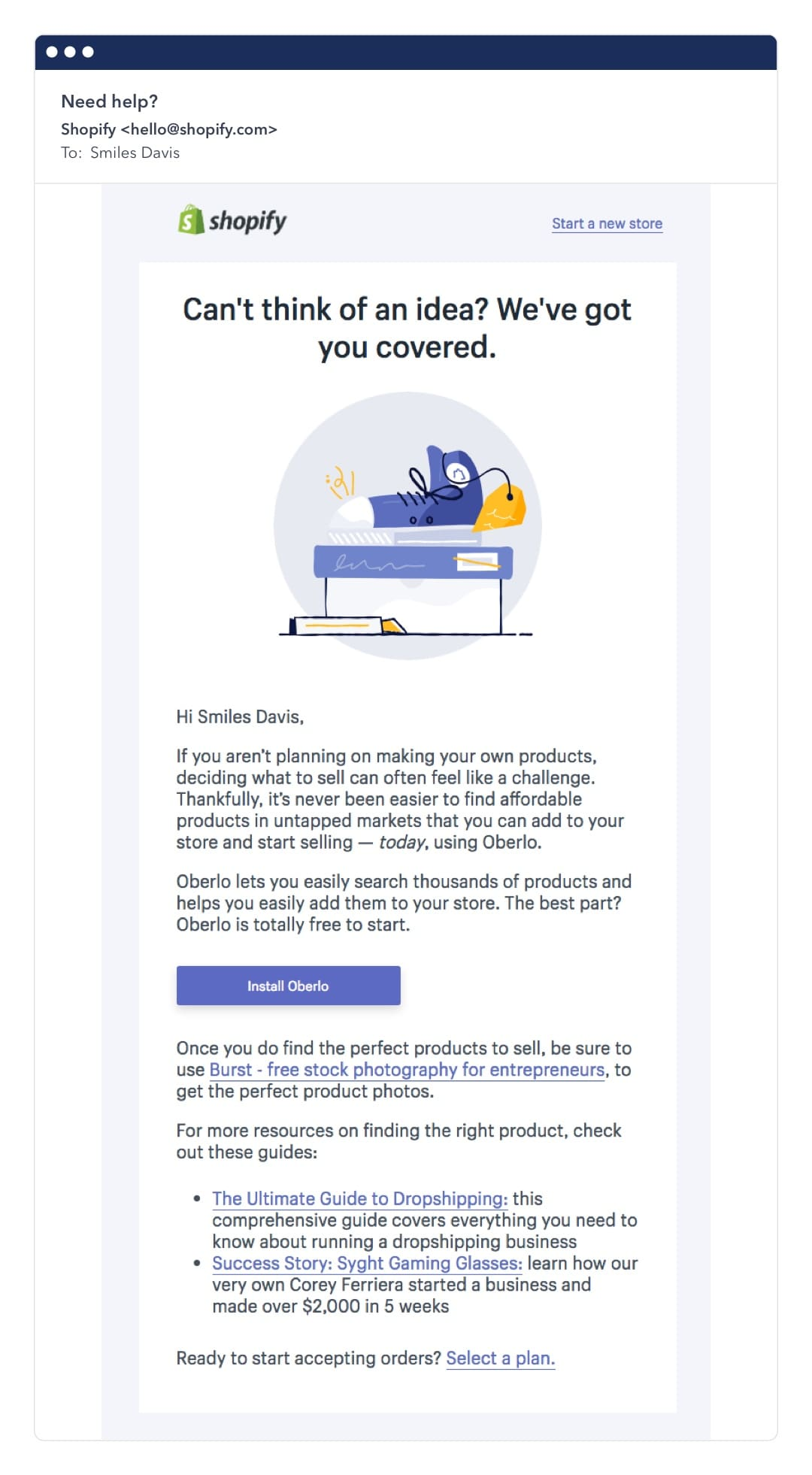 email cross-sell