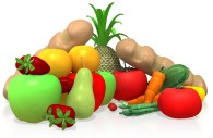 nutritional fruits in bright colors
